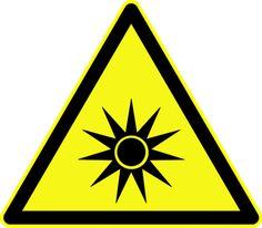 Radiation Warning Symbols: Optical Radiation Symbol