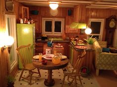 Miniature Trailer House kitchen area