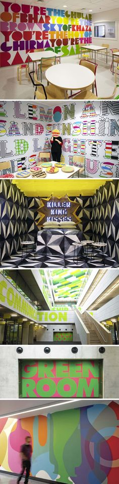 Great example of Environmental Graphics. Big and bold! Environmental Graphic Design, Environmental Graphics, Office Graphics, Floor Graphics, Store Design, Design Shop, Design Design, Signage Design, Retail Design