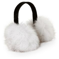 Kyi Kyi Real Fox Fur Earmuffs (67 CAD) ❤ liked on Polyvore featuring accessories, beige and fox fur earmuffs