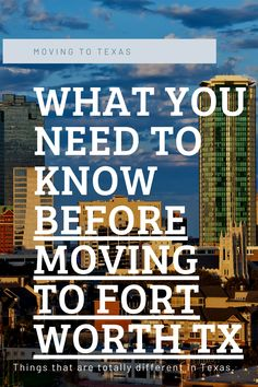 Here's what you need to know before moving to Fort Worth Texas. Ft Worth is a great city, and has a slower pace than Dallas. But it's easier to move to Texas if you know these 2 things that are different in Texas! #texas #moving #movingtotexastips #FtWorth #dfw Moving To Dallas, Moving To Texas, Texas Vehicle Registration, Best Places To Move, Texas Bucket List, Fort Bend, Move On Up, Fort Worth Texas, Texas Homes