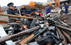 China seizes more than 10,000 illegal guns in crackdown
