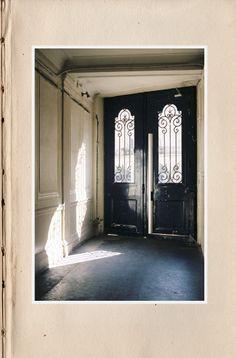 entry way. love the dark. love the windows.