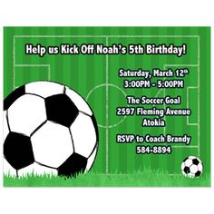 soccer party invitation template free party pinterest soccer