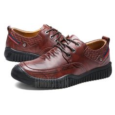 sports shoes 99b1e c5dba Men Fashion Lace-up Casual Leather Shoes - 44.77 Free Shipping. Just  37.30 ...