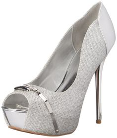 Qupid Women's Daydream-67 Dress Pump, Silver, 8.5 M US