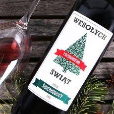 Personalizowane Czerwone Wino CHOINKA idealny na urodziny