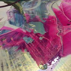 Glorious pink liquid oil glaze! #workinprogress #oilpainting #art #playingwithcolour
