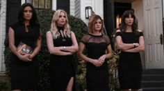 Pretty Little Liars' funeral outfits.