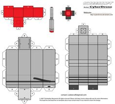 My Custom Cubeecraft / Papercraft Cutout template of the War Doctor's Sonic Screwdriver from Doctor Who. (All My Custom Fan Art Cubeecraft Templates are. Cubee - The War Doctor's Sonic Screwdriver Doctor Who Craft, Doctor Who Gifts, Doctor Who Party, 4th Doctor, Eleventh Doctor, Tardis, Teen Library, Library Ideas, Sonic Screwdriver