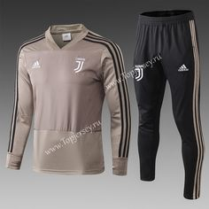 f5d707f1a 2018-19 Juventus Earth Yellow V Collar Thailand Soccer Tracksuit -815  Earth