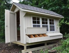 Great prefab coop. Windows! (Needed for winter eggs.) Walk inside!