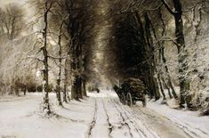 Apol Louis Winter landscape Sun « Louis Apol (1850-1936) « Artists «