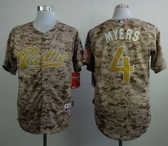 quality design 5fe2d 0c62f Padres  4 Wil Myers Camo Alternate 2 Cool Base Stitched MLB Jersey