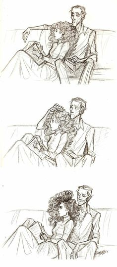 Erik absolutely plays with Christine's giant hair all the time. This is a fact. Phantom of the Opera belongs to Leroux. Dramione, Fanart, Ella Enchanted, Opera Ghost, Music Of The Night, Sing To Me, Phantom Of The Opera, Musical Theatre, Verona