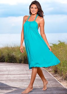 Slip on swing dress in the VENUS Line of Dresses .  Love the color and love the style