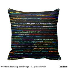 Westtown Township Text Design I Throw Pillow