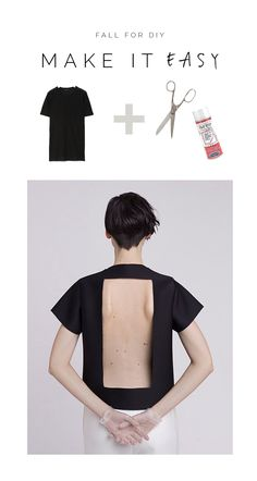 DIY Easy Cut-Out T-Shirt Tutorial
