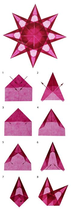 For bathroom and closet windows -- Beautiful origami window stars, DIY directions www.deschdanja.ch