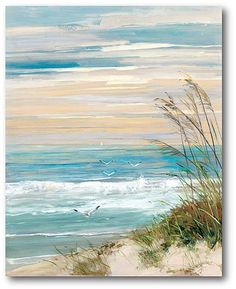 Beach Scene Wrapped Canvas