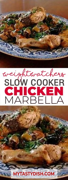 Slow Cooker Chicken Marbella come with 5 Weight watchers FreeStyle Smart Points Slow Cooker Chicken Marbella Yummy, Please make sure to Like and share this Recipe with Ww Recipes, Cookbook Recipes, Dinner Recipes, Cooking Recipes, Healthy Recipes, Holiday Recipes, Low Carb Slow Cooker, Slow Cooker Recipes, Crockpot Recipes