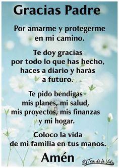 Prayer Verses, Faith Prayer, God Prayer, Prayer Quotes, Bible Quotes, Spiritual Prayers, Catholic Prayers, Spanish Quotes With Translation, Happy Day Quotes