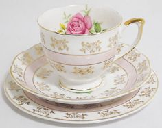 Vintage Mayfair English China Tea Set Trio