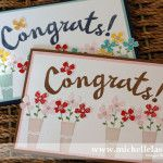 Pictogram punches congratulations card using Stampin Up