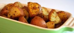 easy, perfect roasted potatoes