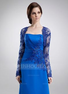 [NZ$ 77.00] Long Sleeve Tulle Special Occasion Wrap (013004155)