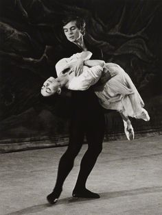 Margot Fonteyn and Rudolf Nureyev in rehearsal for Giselle (their first performance together at London's Covent Garden). Photo: Michael Peto, February 1962.