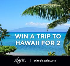 Enter to win a trip to Hawaii  http://prmo.me/w3XGWG
