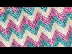 Crochet Secrets: Make Any Size Ripple, Chevron or Zig Zag Afghan - YouTube