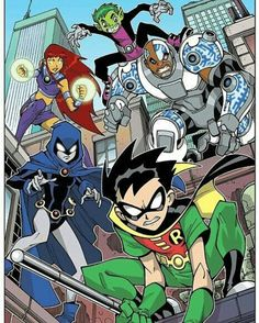 "toddnauck: "" Teen Titans on patrol! I'll have this new, limited edition Teen Titans print available at my next two convention appearances: Long Beach Comic Con Sept 2014 and New York Comic Con Oct "" Beast Boy, Old Cartoons, Classic Cartoons, Teen Titans Season 6, Teen Titans Robin, Old Teen Titans, Teen Titans Fanart, Teen Titans Cyborg, Teen Titans Go Movie"