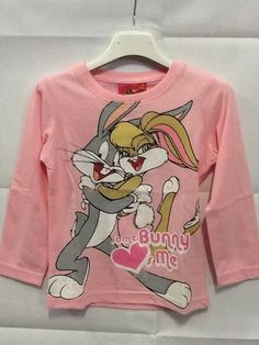 Maglietta manica lunga bambina Bugs Bunny Looney Tunes 4 anni SCONTO 20%