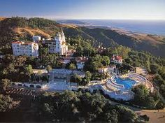"""Hearst Castle, San Simeon, CA.  Hearst used to call this """"the ranch.""""  They still have a herd of zebra left from when he had a zoo here."""