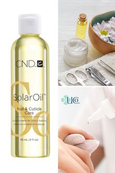 A favorite among nail professionals and clients, CND SolarOil is infused with jojoba oil and vitamin E. Repeated use drives nutrients in deeper, creating stronger, healthier nails, and hydrated… More Salon Business, Business Ideas, Cuticle Care, Salon Quotes, Barber Supplies, Brow Wax, Wax Hair Removal, Salon Equipment, Healthy Nails