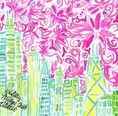 Lilly in Chicago soon! Via Lilly Pulitzer Instgram Lily Pulitzer Painting, Lilly Pulitzer Prints, Filly, Do It Yourself Design, Paper Background, Deco, Illustrations Posters, Scrapbook Paper, Cute Art