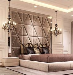 Luxurious bedrooms - 50 Luxury Bedroom Design Ideas that you Definitely want for your Dream Home – Luxurious bedrooms Luxury Bedroom Design, Master Bedroom Design, Luxury Home Decor, Home Bedroom, Bedroom Decor, Bedroom Designs, Bedroom Lighting, Bedroom Ideas, Luxury Master Bedroom