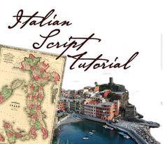 Italian Script Tutorial