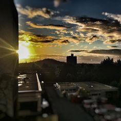 Sonnenuntergang bei der Arbeit! #Feuerwehr_Aachen #feuerwehr #aachen #sun #sonne #Sommer