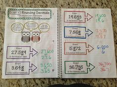 It& been a busy start to the school year, but I finally finished the first edition of my Grade Interactive Math Notebooks. These notebo. Math Teacher, Math Classroom, Classroom Ideas, Classroom Inspiration, Classroom Organization, Classroom Management, Math Notebooks, Interactive Notebooks, Fifth Grade Math