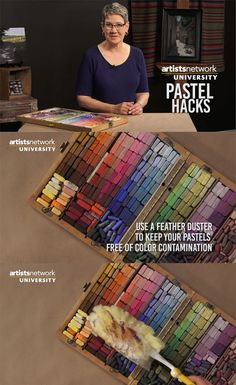 Keep those pastels clean! Check out this studio tip from Chris Ivers, whose new online course, Pastel for Beginners, starts 8/29 on Artists Network University.