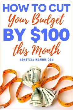 Want to cut your budget by $100 each month? Try some of these simple tips! #budget #payless #savemore #budgeting #budgetingtips #finances #money How To Eat Less, Make More Money, Ways To Save Money, Living On A Budget, Frugal Living Tips, Frugal Tips, Money Saving Mom, Cell Phone Plans, Get Free Stuff