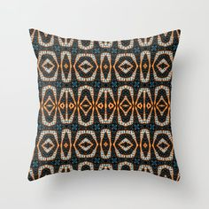 Pattern on pattern Throw Pillow by psycheacrylic Couch Pillows, Down Pillows, Designer Throw Pillows, Pillow Design, Pillow Inserts, Hand Sewing, Pattern, Decor, Sewing By Hand