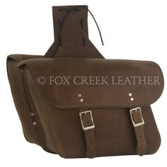 Brown Leather M.C. Saddlebags | $300.00 | Fox Creek Leather Carries Only The Highest Quality, Made in USA Leather Motorcycle Jackets,Products, Clothing & Leather Goods