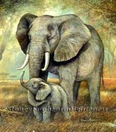Elephant Mom & Baby ~ African Animals ~ Counted Cross Stitch Pattern | Crafts, Needlecrafts & Yarn, Embroidery & Cross Stitch | eBay!