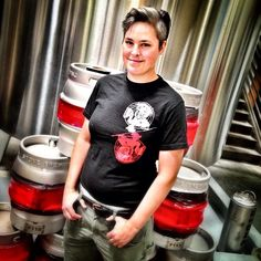 #stonebrewing's Hollie Stephenson doing what she does best at Stone: brewing beer!  #craftbeer