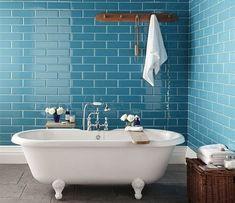 Плитка кабанчик - популярная керамическая плитки для отделки стен, в т.ч. в ванной комнате. Каких размеров она бывает и какие типы укладки существуют?