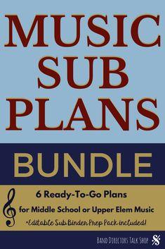 Music Sub Plans Bundle Music Sub Plans, Music Lesson Plans, Music Lessons, Piano Lessons, Guitar Lessons, Music Classroom, Music Teachers, Classroom Ideas, Music Theory Games